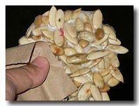 カボチャの種の甘いせんべい