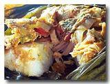 タマレス・コラドス 中米のトウモロコシの主食を割ったところ