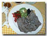 タサホ・サルサ・メヒカーナ 干し肉のトマトチリソースがけ 皿ごと