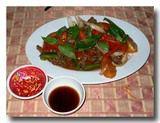 鹿肉の中華炒め
