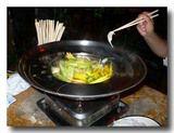 花鍋煮込み中