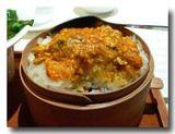 蟹味噌と蟹肉の餅米蒸し