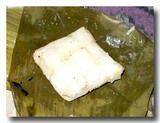 蒸し米 バナナの籠を剥いたところ