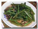 パックブン・ファイデン 空心菜の炒め物4