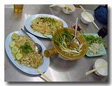 フカヒレスープと香港炒麺、炒飯