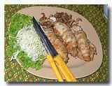 イカの挽肉詰めの大蒜揚げ