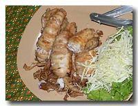 ムック・ヤッサイ・トッ・ガディアム イカの肉詰大蒜風味揚げ