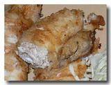 イカの挽肉詰めの大蒜揚げ アップ