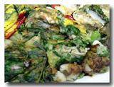 クルパジョン 牡蛎と葱の韓国風お好み焼き アップ