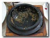 トルソッパを食べ終わった後の釜
