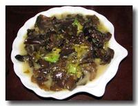 雪菜炒黒木耳 雪菜の漬け物と黒木耳の炒め物