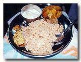 タマネギご飯とサブジの夕食