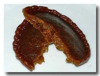 チュチュ chu-chu 黒米粉の揚げパンケーキ 割った断面