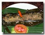 テロール・カカップ・ウォク・ダウン 鯛の卵のササ包み焼き