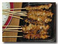 サテ・アヤム・クリッ 鶏皮の串焼き