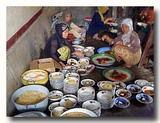 煮込み料理を担当する女性たち
