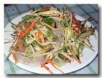 家常涼菜 キュウリと澱粉の和え物
