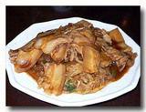 酸菜扣肉粉 漬物、バラ肉、春雨の炒め煮 皿ごと