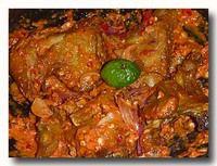 アヤム・プルチン 鶏肉の唐辛子和え