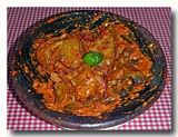アヤム・プルチン 鶏肉の唐辛子和え 皿全体