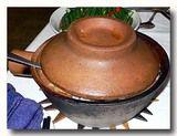深めの砂鍋で作った砂鍋飯