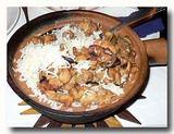 インドの中華料理屋で食べた砂鍋飯