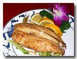 香煎烏魚鰾 ボラの白子焼き 一皿