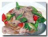 炒豚腰 豚の腎臓の炒め物 皿全体