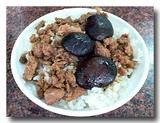 香菇肉燥飯 椎茸と肉そぼろのせご飯