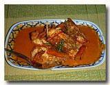 チューチー・クン エビのレッドカレー炒め 皿全体