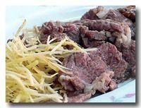 白片羊肉 茹でた羊のバラ肉