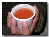 レトルトのトマトスープ