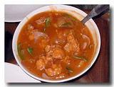 チリチキン 鶏肉のケチャップ煮 唐辛子入り。