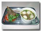 焼肉粽と魚丸湯 ちまきと魚団子スープ