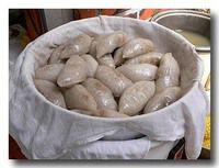金包銀 椎茸と筍餡饅頭