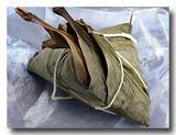 バチャン 肉粽/ちまきを開く前