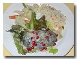 チレス・エン・ノガータ ピーマンの肉詰め ザクロソース 皿アップ