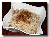 麻油麺線 台湾素麺のごま油和え