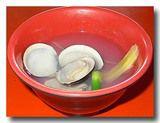 蛤蜊湯 ハマグリのスープ お椀についだとこ