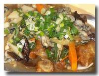 油條鮮蚵 [牡蠣と油条の煮込み] アップ