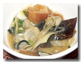 油條鮮蚵  [牡蠣と油条の煮込み] 取り分けたところ