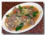 酸白牛肉  [白菜の漬物と牛肉炒め]
