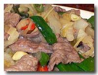 酸白牛肉  [白菜の漬物と牛肉炒め] アップ
