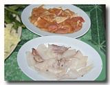 タイスキの具 鶏肉とイカ