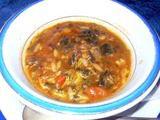 チュニジア料理 ハンニバル 野菜と魚のスープ
