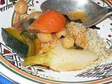 チュニジア料理 ハンニバル クスクス 盛りつけたところ