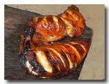 タンドーリ・チキン カジュラホのシク教徒のチキンやさんのもの 焼き上がった直後