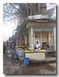 バラナシのマライヨ売るお店が集まる区画