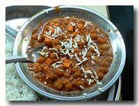 チョーラ・パニール chola panner 黒目豆とチーズのカレー