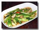 パッ・カナー・ナムマンホーイ カイラン菜のオイスターソース炒め 皿全体